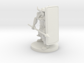 Tower Shield Paladin in White Natural Versatile Plastic