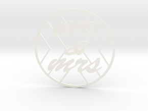 monogram coasters in White Processed Versatile Plastic