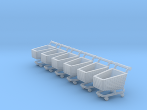N SCALE SHOPPING TROLLEY X 6 in Smoothest Fine Detail Plastic