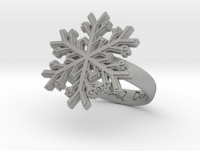 Snowflake Ring 1 d=16mm h35d16 in Aluminum