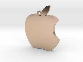 Apple logo in 3D in 14k Rose Gold Plated Brass