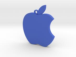 Apple logo in 3D in Blue Processed Versatile Plastic