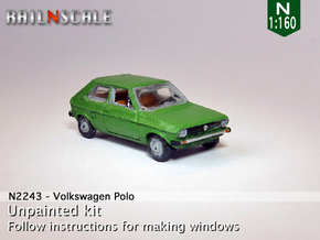 Volkswagen Polo 1 (N 1:160) in Smooth Fine Detail Plastic