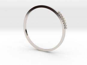 Minimalist Stackable Ring in Rhodium Plated Brass