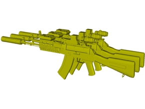 1/48 scale Avtomat Kalashnikova AK-74 rifles x 3 in Smoothest Fine Detail Plastic