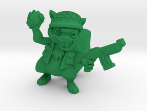 General Squirlimar (PS009) in Green Processed Versatile Plastic: Medium