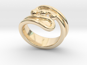 Threebubblesring 29 - Italian Size 29 in 14K Yellow Gold
