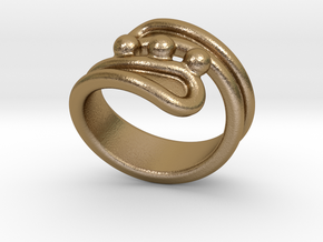Threebubblesring 29 - Italian Size 29 in Polished Gold Steel