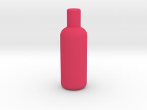 Round Wine Bottle Game Piece in Pink Processed Versatile Plastic