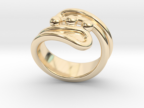 Threebubblesring 30 - Italian Size 30 in 14K Yellow Gold