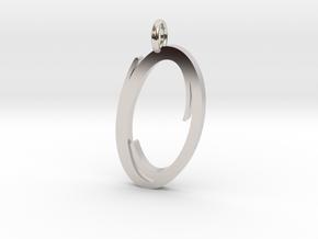 Portal Logo - Valve Pendant in Rhodium Plated Brass