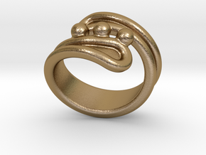 Threebubblesring 30 - Italian Size 30 in Polished Gold Steel