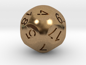 D18 Sphere Dice in Natural Brass