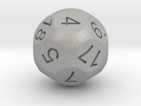 D18 Sphere Dice in Raw Aluminum