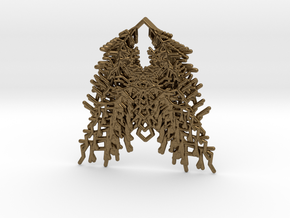 Parametric Necklace / Pendant / Brooch v.3 in Natural Bronze