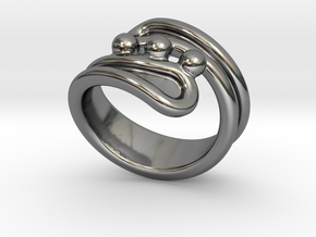Threebubblesring 31 - Italian Size 31 in Fine Detail Polished Silver