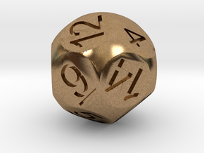 D14 Sphere Dice in Natural Brass