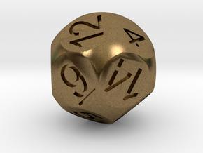 D14 Sphere Dice in Natural Bronze
