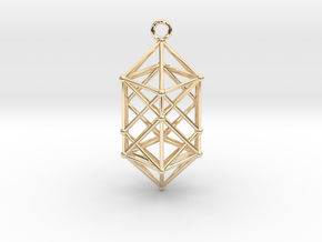 Hyperdiamond projection of 24 cell Octoplex 50mm in 14K Yellow Gold