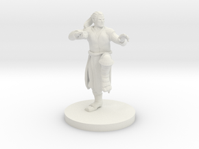 Human Male Monk in White Natural Versatile Plastic