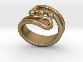 Threebubblesring 33 - Italian Size 33 in Polished Gold Steel