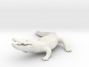 Printle Thing Alligator - 1/35 in White Natural Versatile Plastic