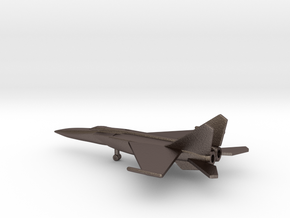 MiG-25PDS Foxbat-E in Polished Bronzed Silver Steel: 6mm