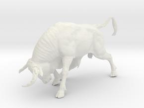 Printle Thing Bull - 1/32 in White Natural Versatile Plastic