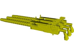 1/18 scale WWII Browning M-1919A4 machineguns x 3 in Smooth Fine Detail Plastic