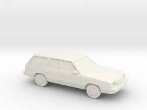 1/87 1985-89 Plymouth Reliant Station Wagon in White Natural Versatile Plastic