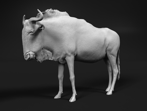 Blue Wildebeest 1:45 Standing Female in White Natural Versatile Plastic