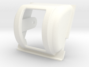 1/16th JSU 152 trunion cover in White Processed Versatile Plastic
