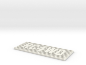 RC4WD D90/D110 Grill in White Natural Versatile Plastic