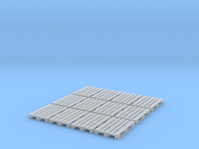 1/87th (H0) scale Pallets (12 pieces) in Smooth Fine Detail Plastic