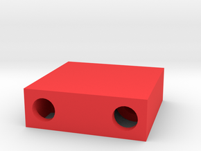 Stage - Pre-Stage Beam Box for Drag Racing 1/24 in Red Processed Versatile Plastic