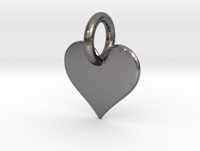 little heart in Polished Nickel Steel