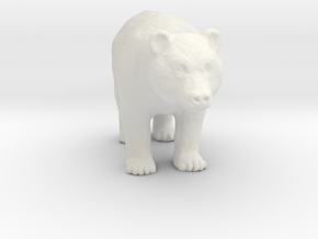 Printle Thing Bear - 1/72 in White Natural Versatile Plastic