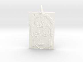 David Bowie Pendant in White Processed Versatile Plastic