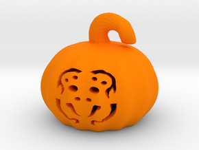 Spider Pumpkin  in Orange Processed Versatile Plastic
