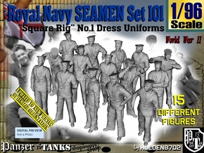 1/96 Royal Navy Seamen Set101 in Smooth Fine Detail Plastic