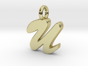 U - Pendant 2mm thk. in 18k Gold Plated