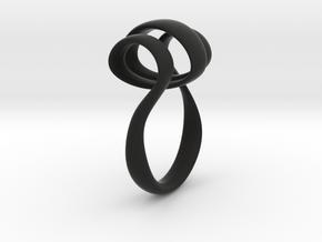 Triple Curl ring in Black Natural Versatile Plastic: 6 / 51.5
