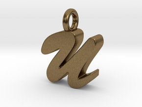 U - Pendant 3mm thk. in Natural Bronze