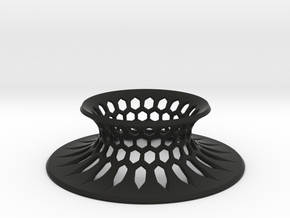 "The Universe Sphere Base ""Grid"" in Black Premium Versatile Plastic"