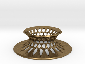 """The Universe Sphere Base """"Grid"""" in Natural Bronze"""