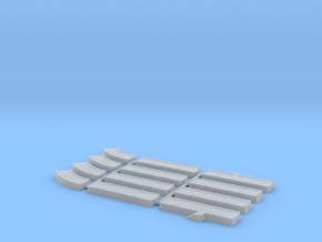 1/1200th - 1/1250th scale Pier pack (12 pieces) in Smooth Fine Detail Plastic
