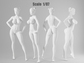 1:87 Sexy little girl in 2cm-012 in Frosted Extreme Detail