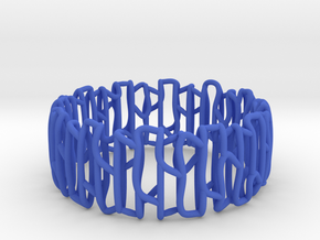Modern patterned bracelet in Blue Strong & Flexible Polished: Small