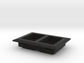 simple two switch panel in Black Natural Versatile Plastic