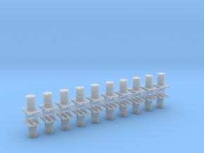 200 Liter Faß auf Europalette 10er Set - 1:120 TT in Smooth Fine Detail Plastic